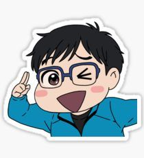 High quality Yuri On Ice gifts and merchandise. Inspired designs on t-shirts, posters, stickers, home decor, and more by independent artists and designers from around the world. Pop Stickers, Bubble Stickers, Anime Stickers, Printable Stickers, Kawaii Chibi, Cute Chibi, Kawaii Anime, Geeks, Yuri!!! On Ice