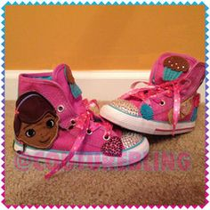 275431cef4b5 Doc McStuffins Party Fun Custom Couture Bling Converse