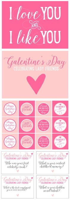 Free Galentine Party Printables for Valentine's Day!