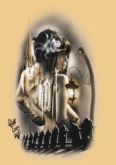 garota igreja surrealismo / girl church and fenced