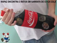 Encontrado 3 ratos em Coca-Cola...