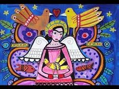 59 German Rubio Mexican Art ideas | mexican art, folk art, mexican Angel Art, Mexican Folk Art, Mural Art, Teaching Art, Tree Of Life, Art Google, Art Projects, Candle Holders, Religion