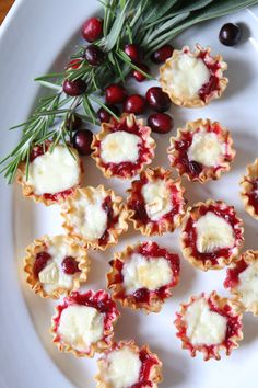 Thanksgiving Recipe - Cranberry Brie Bites - Finding Home Farms