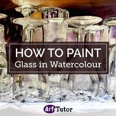 How to Paint Glass in Watercolour by Diana-B - ART - glaskunst Watercolor Tips, Watercolor Painting Techniques, Watercolor Projects, Watercolor Canvas, Watercolour Tutorials, Watercolor Paintings, Watercolours, Painting Tutorials, Painting Tips