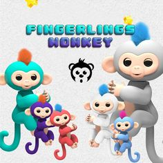 6 Color Fingerlings Monkey Interactive Baby Pet Toys For Children Smart Fingers Llings Smart Induction Toys Christmas Gift Kid  Price: 8.82 USD