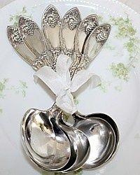 Antique La Vigne Cream Soup Spoons