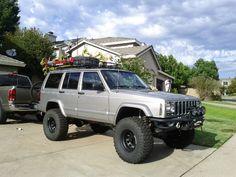 Lifted Jeep Cherokee, Jeep Grand Cherokee, Cherokee 4x4, Jeep Wrangler Lifted, Lifted Jeeps, Silver Jeep, Jeep Xj Mods, Green Jeep, Jeep Baby