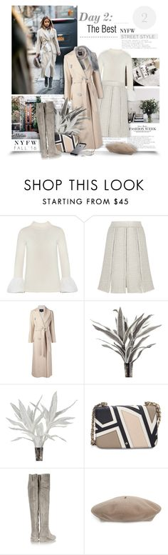 """""""Day Two: The Best NYFW Street Style"""" by thewondersoffashion ❤ liked on Polyvore featuring Proenza Schouler, Derek Lam, Tory Burch, Gianvito Rossi, Gucci, Brunello Cucinelli, women's clothing, women, female and woman"""