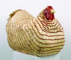 Willie Cole, Malcolm's Chicken I. (2002). Courtesy of Alexander and Bonin, New York.