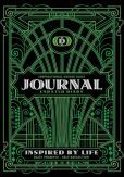 "Inspirational Guided Daily Journal Undated Diary: Ideal journal to beat the blank page, 7""x10"" notebook with green Art Deco cover, 362 pages, undated daily prompts and space for images, drawings, doodles and free writing"