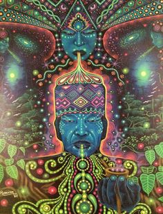 Visionary artist Pablo Amaringo Peru) is renowned for his intricate, colorful depictions of his visions from drinking the entheogenic plant brew ayahuasca. Psychedelic Art, Drawn Art, Psy Art, Spirited Art, Mystique, Hippie Art, Art Icon, Visionary Art, Sacred Art