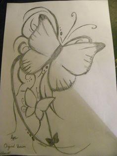 Tattoo Pencil Drawings Tumblr Butterfly tattoo pencil by