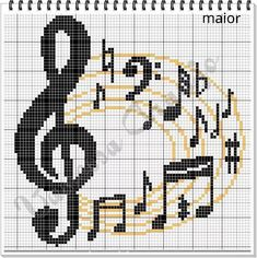 Thrilling Designing Your Own Cross Stitch Embroidery Patterns Ideas. Exhilarating Designing Your Own Cross Stitch Embroidery Patterns Ideas. Cross Stitch Music, Counted Cross Stitch Patterns, Cross Stitch Charts, Cross Stitch Designs, Cross Stitch Embroidery, Embroidery Patterns, Pixel Pattern, Tapestry Crochet, Le Point
