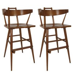 Pair of Bar Stools in the Style of Paul McCobb | 1stdibs.com