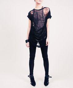 Black Punk Style T-shirt