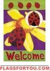 Ladybug 3D garden flag - 1 left