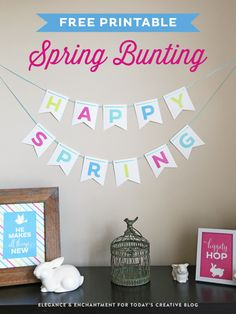 Free Printable Spring Bunting designed by Elegance and Enchantment | TodaysCreativeblog.net