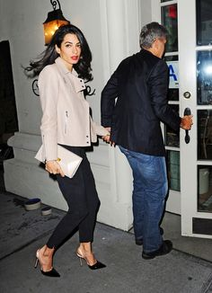 Amal and George Clooney have a dinner with Julia Roberts in NYC – 20.04.2015