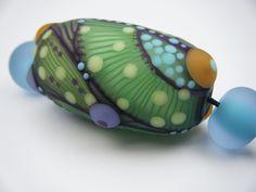 Moogin Beads- Pale mint green focal bead set , lampwork / glass - SRA by…