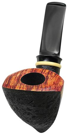 Jared Coles Tobacco Pipes: Partially Sandblasted Shield with Boxwood (1601)