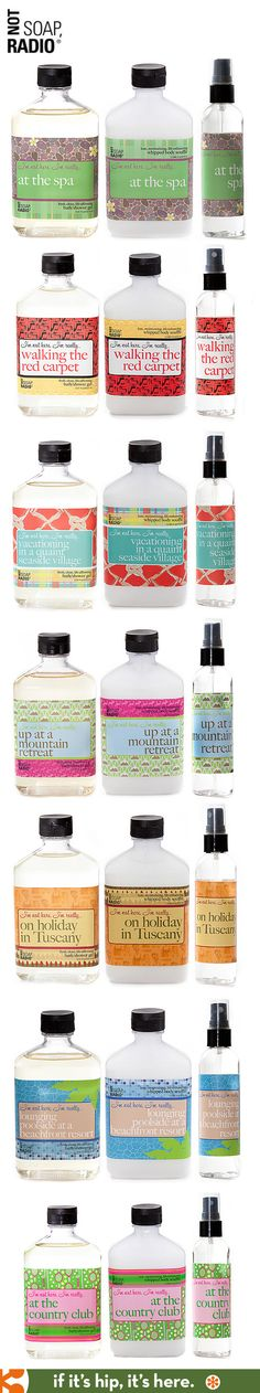 Bath Soap Trios with funny and pretty labels from Not Soap Radio