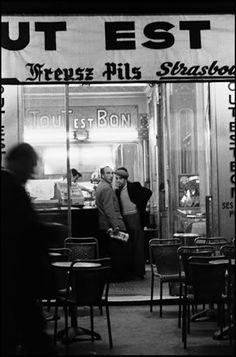 Bar in Pigalle area   1956, Paris