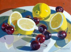"""Lemon and Cherrie Series"" by Leigh-Anne Eagerton, painting, via Flickr"