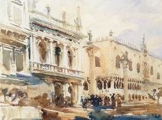Sargent - Venice, The Piazzetta and the Doge's Palace, ca. 1907