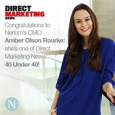 Our CMO, Amber Olson-Rourke, is a Direct Marketing News 2014 40 Under 40 Winner! http://www.dmnews.com/under-40-and-overly-ambitious/article/360508/