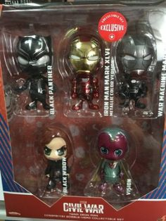 Hot Toys Civil War Iron Man Black Widow Black Panther Vision War Machine Cosbaby