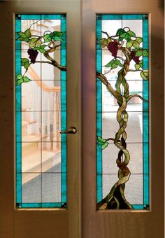 Doors and Windows -- Colored Glass Entry Doors
