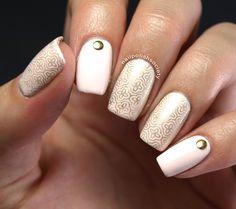 Nail Polish Society>> #31DC2014 Day 15: Delicate Gold Lattice
