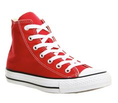 Red Canvas Converse All Star