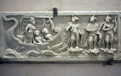 Detail of a sarcophagus that held the remains of a seventeen-year-old boy: the equestrian M. Aurelius Romanus.