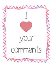 I love your comments... come and visit my blog! daydreamland.it
