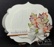 Really love the look of the Woodgrain embossing folder card stock piece mounted on the same color of card stock. Lovely card Mary!