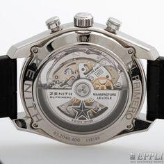 "Auktionshaus Eppli - ZENITH Herrenuhr ""El Primero 36000 VPH"", Chronograph. Edelstahl."