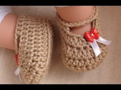 How to Crochet Posh Crochet Baby Booties Video and Pattern. Easy Level. Written Pattern below and free to print at http://www.crochethooksyou.com/posh-crochet-baby-booties-pattern/    Written Instructions (Make 2) - Design by Paula Daniele  Copyright © Crochet Hooks You. All Rights Reserved.    Notes: ch 2 is counted as the turning chain right throug...