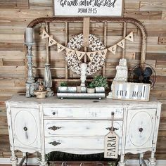 Home Decor Online Ksa lest Home Decor Ideas Johannesburg as Home Decor Chalk Paint Repurposed Furniture, Vintage Furniture, Painted Furniture, Vintage Decor, Rustic Decor, Farmhouse Style, Farmhouse Decor, Buffet, French Country Decorating