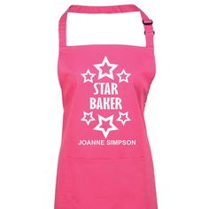 Star Baker Personalised Apron Great British by TheOccasionalGenius Personalised Christmas Presents, Star Baker, Cool Aprons, Personalized Aprons, Great British Bake Off, Birthday Gifts, Gift Wrapping, My Favorite Things, Stars