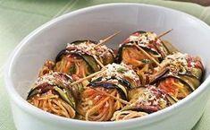 Ρολά μελιτζάνας με σπαγγέτι στο φούρνο - Daddy-Cool.gr