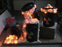Toxic waste light up build...maybe with giant eyeball coming out of one!