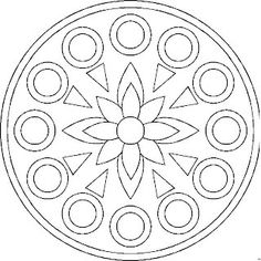 mandala - would be a good pattern for an embroidered/beaded felt ornament Mandala Art, Mandala Pattern, Mosaic Patterns, Pattern Art, Embroidery Patterns, Quilt Patterns, Mandala Coloring Pages, Colouring Pages, Adult Coloring Pages
