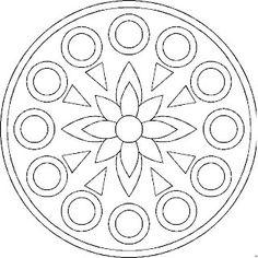 Mandala anneaux #mandala #mandalas #coloriage                              …