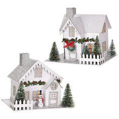 Foam Simple Santa Ornament Craft Kit/Crafts/Activity/School Supplies/Christmas Ornaments-makes 12 - My Cute Christmas Christmas Village Houses, Christmas Store, Christmas Villages, Christmas Wreaths, Christmas Crafts, Christmas Ornaments, Putz Houses, Family Christmas, Xmas