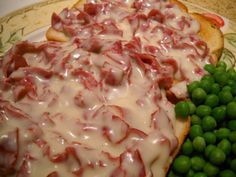 Creamed Chipped Beef Ingredients 1 jar dried beef, sliced into thin ribbons 4 tablespoons butter 4 tablespoons all-purpose flour 4 cups whole milk Pepper to taste Directions Melt butter in a heavy pan over medium heat. Add flour to the pan and whisk Beef Dishes, Food Dishes, Main Dishes, Side Dishes, Dinner Dishes, Chip Beef Gravy, Beef Gravy Recipe, Creamed Chipped Beef, Creamed Beef