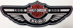 Harley Davidson Badge American Motorcycle Biker Clothing Embroidered Iron on Big Patch 100 Yrs Anniversary Harley Davidson Gear, American Motorcycles, Biker Shirts, Juventus Logo, Motorcycle Parts, Biker Clothing, Badge, Patches, Anniversary