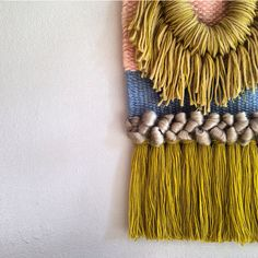 Love the woven tapestries arist Maryanne Moodie creates in her studio in NY! Weaving Textiles, Weaving Art, Tapestry Weaving, Loom Weaving, Weaving Wall Hanging, Wall Hangings, Textile Fiber Art, Weaving Projects, Tear
