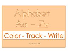 Alphabet Color, Track, and Trace Workbook