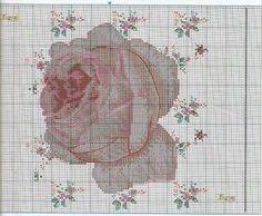 PUNT punto de cruz: Flores